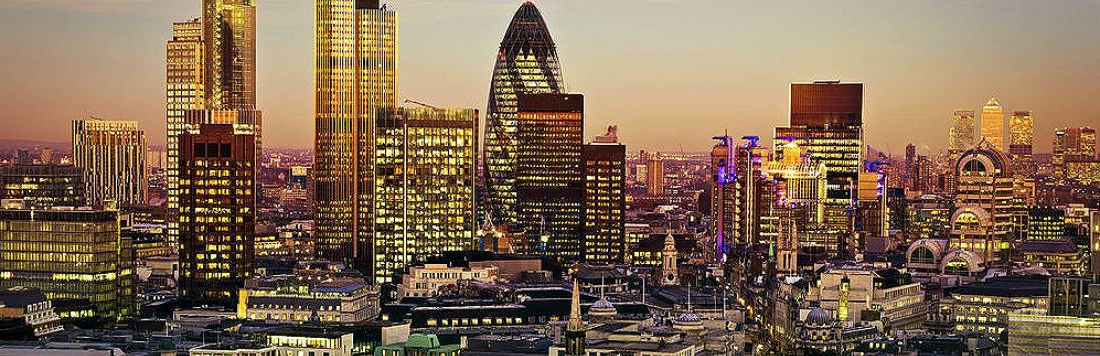 Search Warrant Lawyers Showing London Financial District Skyline Image